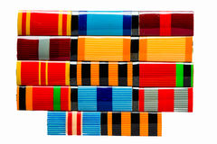 Collection of Russian (soviet) medals Royalty Free Stock Photography