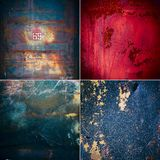 Collection of rusty old texture Stock Photography