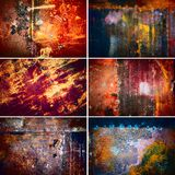 Collection of rusty old texture Royalty Free Stock Images
