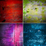 Collection of rusty old texture Stock Photos