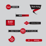Collection of sale banners and discount banners for black friday Stock Photo