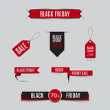 Collection of sale banners and discount banners for black friday Stock Image
