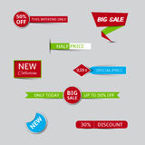Collection of sale banners and discount banners Royalty Free Stock Photos