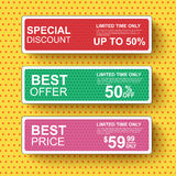 Collection sale banners in pop art style Royalty Free Stock Photo