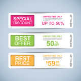 Collection sale banners vector design Royalty Free Stock Image