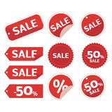 Collection of sale discount origami Royalty Free Stock Photos