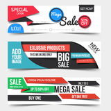 Collection of Sale Discount Styled Banners Stock Photo