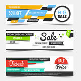 Collection of Sale Discount Styled Banners Royalty Free Stock Images