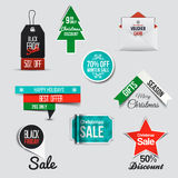 Collection of Sale Discount Styled  Banners Royalty Free Stock Image
