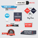 Collection of Sale Discount Styled origami Banners Royalty Free Stock Photos