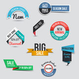 Collection of Sale Discount Styled origami Banners Stock Photo