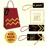 Collection of Sale Discount. Vector. Collection of Sale Discount. Original Banners, Labels, Tags, Emblems. Sale, big sale 50 70 discount Flat design Vector Stock Image