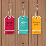 Collection of Sale Discount Vintage Banners on a wood background Royalty Free Stock Photography