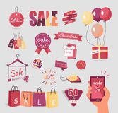 Collection of Sale Elements Stock Photography