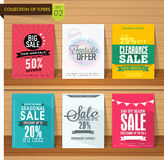 Collection of sale flyers. Stock Photo