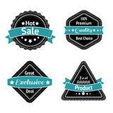 Collection of sale label stickers Stock Photos