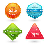 Collection of sale labels Stock Photos
