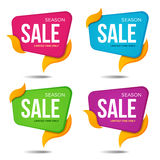 Collection of sale labels price tags banners stickers badges Royalty Free Stock Photography