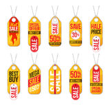 Collection of sale labels price tags banners stickers badges tem Royalty Free Stock Images