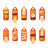 Collection of sale labels price tags banners stickers badges tem Stock Photography