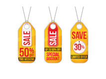 Collection of sale labels price tags banners stickers badges tem Stock Images
