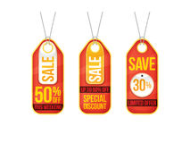Collection of sale labels price tags banners stickers badges tem. Plates. Vector illustration Royalty Free Stock Photo