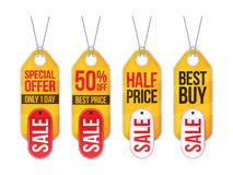 Collection of sale labels price tags banners stickers badges Royalty Free Stock Images