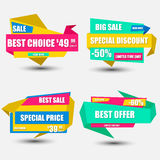 Collection sale paper banner Stock Images