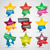 Collection of sale stars Royalty Free Stock Photo