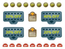 Collection Of Sale Tags Royalty Free Stock Photo