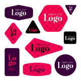 Collection of sample logo and text cards Royalty Free Stock Photo