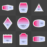 Collection of sample logo and text postage stamp Stock Photo