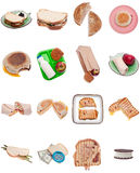 Collection of Sandwiches Royalty Free Stock Image