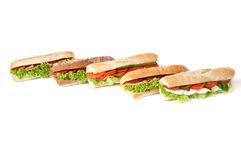 Collection of sandwiches. Royalty Free Stock Photo