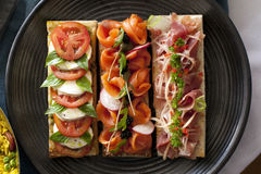 Collection of sandwiches Stock Photography