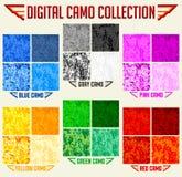 Collection sans couture de camouflage de Digital de vecteur de Camo de couleur, ensemble de modèle illustration libre de droits