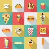 Collection sans couture, pixel, vintage, modèle de nourriture de wagon-restaurant dans le vecteur illustration libre de droits