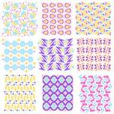 Collection sans joint colorée de texture de carrelage Images libres de droits