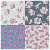 Collection sans joint de fond - fleurs Image stock