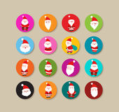 Collection Of santa claus christmas Labels And Icons Royalty Free Stock Photography