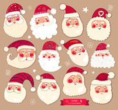 Collection of Santa Clauses Stock Photo