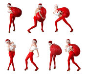 Collection of santa's helper Stock Photography
