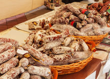 Collection of sausages Stock Images