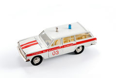 Collection scale model of the car first aid Stock Images