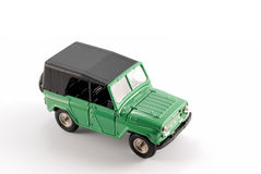 Collection scale model the Off-road car. The model is made of metal. For a basis of model the machine issued in the last century in Russia is taken Stock Photo
