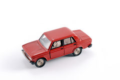 Collection scale model of the red car Royalty Free Stock Images