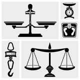 Scale icon. Bathroom Weight Scale.Hook scale. Royalty Free Stock Photo