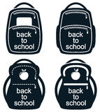 Vector collection of school backpack icons Royalty Free Stock Photo