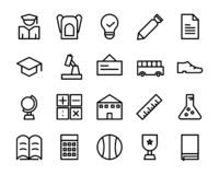 Collection of school icon pack. include file eps 8 illustrator. vector illustration