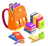 Collection of School-Related Objects on White Stock Photos